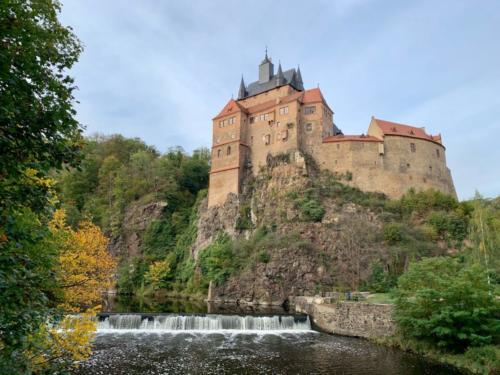 Burg Kriebstein über der Zschopau